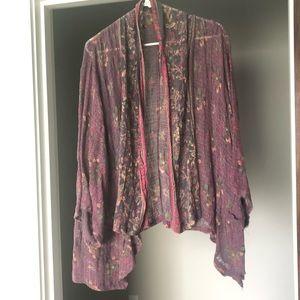 Free People Gauze Floral Kimono